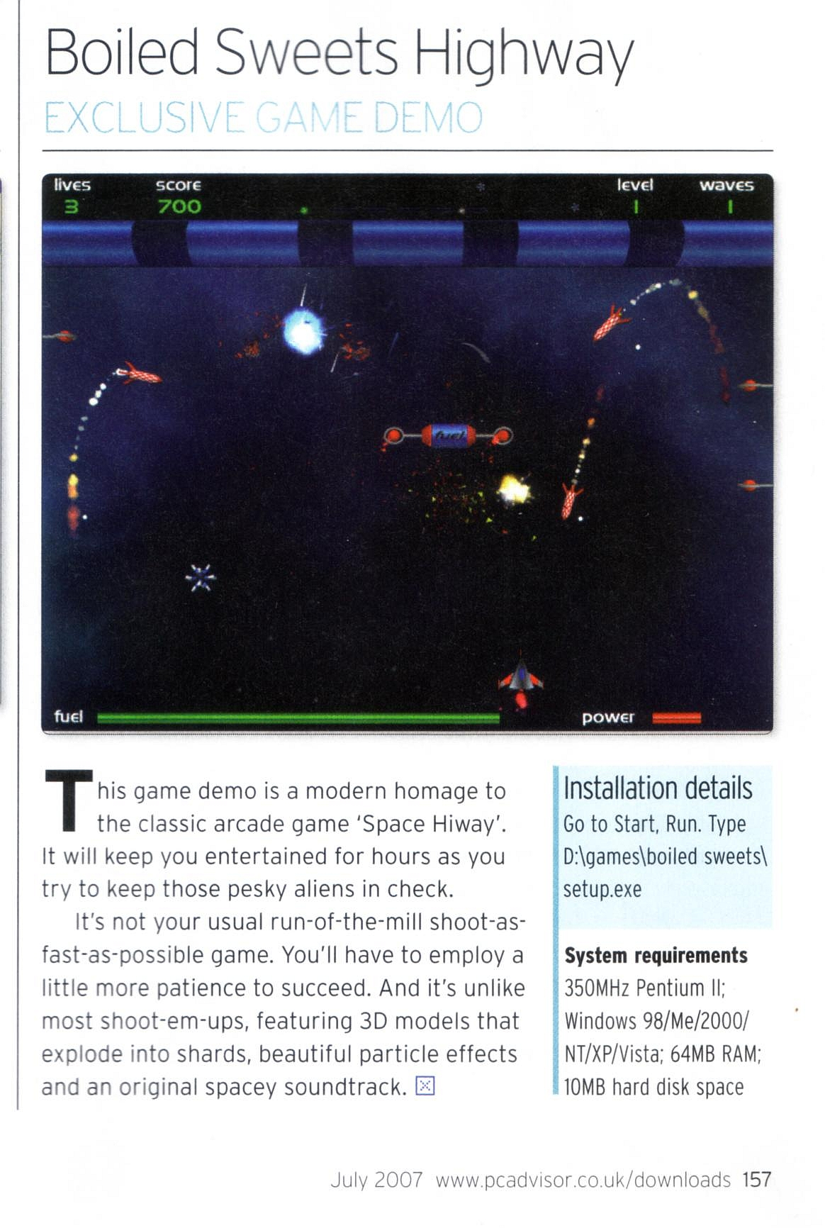 Intersteller Highway - PC Advisor June 2007